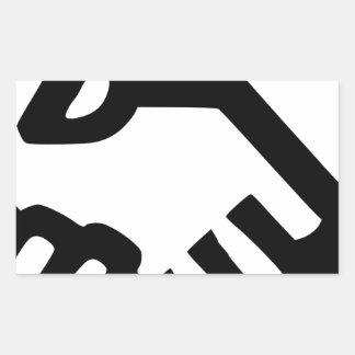 Sticker Rectangulaire De pair