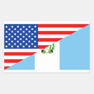 Sticker Rectangulaire de symbole de l'Amérique de drapeau de pays des