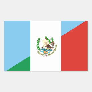 Sticker Rectangulaire demi de symbole de drapeau du Guatemala Mexique