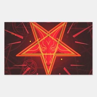 Sticker Rectangulaire démon au néon