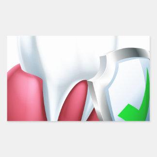Sticker Rectangulaire Dent et gomme de bouclier