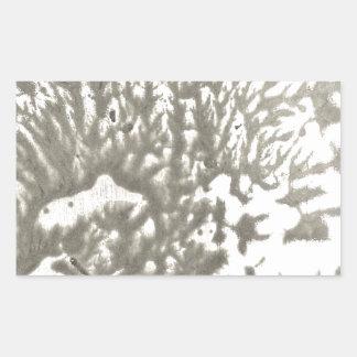 Sticker Rectangulaire Désert en métal