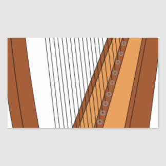 Sticker Rectangulaire Dessin d'harpe