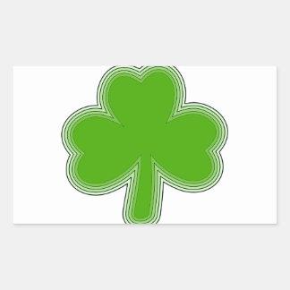 Sticker Rectangulaire Dessin du shamrock de Patrick de saint