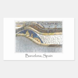 Sticker Rectangulaire Destination de touriste de Barcelone Espagne Parc
