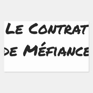 Sticker Rectangulaire DIRTY, LE CONTRAT DE MÉFIANCE - Jeux de mots
