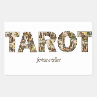 Sticker Rectangulaire Diseur de bonne aventure de tarot