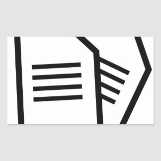 Sticker Rectangulaire Documents sur papier