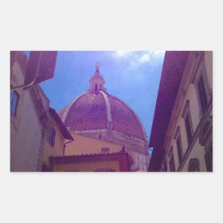 Sticker Rectangulaire Dôme de Brunelleschi à Florence, Italie