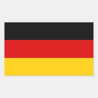 Sticker Rectangulaire Drapeau allemand