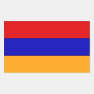 Sticker Rectangulaire Drapeau arménien