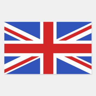 Sticker Rectangulaire Drapeau britannique du Royaume-Uni