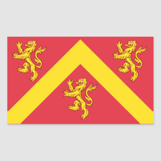 Sticker Rectangulaire Drapeau d'Anglesey