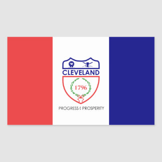 Sticker Rectangulaire Drapeau de Cleveland, Ohio