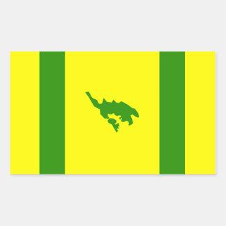 Sticker Rectangulaire Drapeau de Culebra