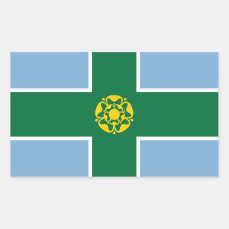 Sticker Rectangulaire Drapeau de Derbyshire