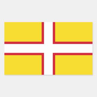 Sticker Rectangulaire Drapeau de Dorset