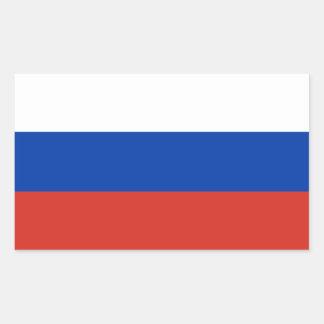 Sticker Rectangulaire Drapeau de Fédération de Russie