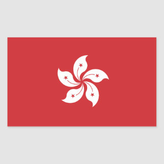 Sticker Rectangulaire Drapeau de Hong Kong