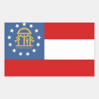 Sticker Rectangulaire Drapeau de la GÉORGIE -