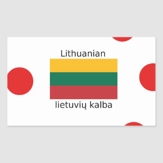 Sticker Rectangulaire Drapeau de la Lithuanie et conception lithuanienne