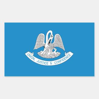 Sticker Rectangulaire Drapeau de la LOUISIANE -