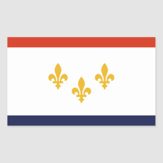 Sticker Rectangulaire Drapeau de la Nouvelle-Orléans, Louisiane