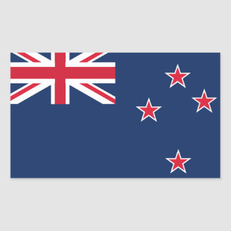 Sticker Rectangulaire drapeau de la Nouvelle Zélande