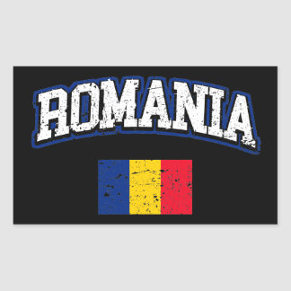 Sticker Rectangulaire Drapeau de la Roumanie