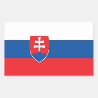 Sticker Rectangulaire Drapeau de la Slovaquie