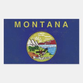 Sticker Rectangulaire Drapeau de Montana