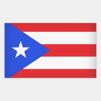 Sticker Rectangulaire Drapeau de Porto Rico
