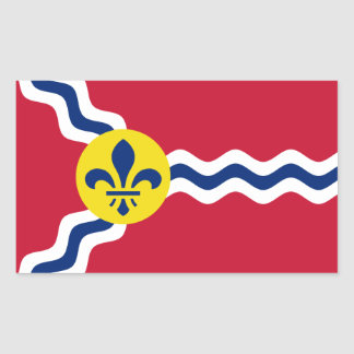Sticker Rectangulaire Drapeau de St Louis, Missouri