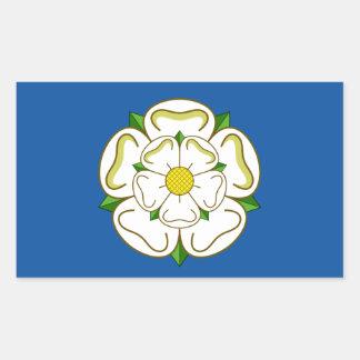 Sticker Rectangulaire Drapeau de Yorkshire