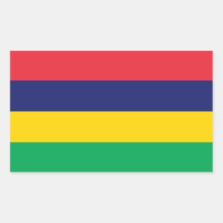 Sticker Rectangulaire Drapeau des Îles Maurice