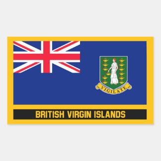 Sticker Rectangulaire Drapeau des Îles Vierges britanniques