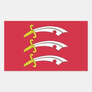 Sticker Rectangulaire Drapeau d'Essex