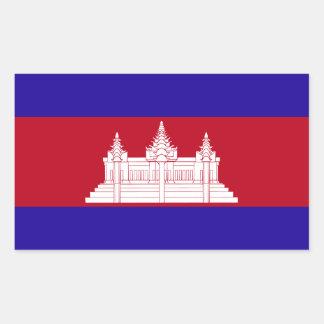 Sticker Rectangulaire Drapeau du Cambodge