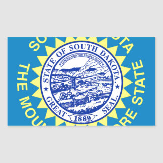 Sticker Rectangulaire Drapeau du Dakota du Sud