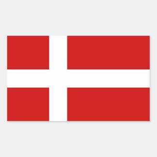 Sticker Rectangulaire Drapeau du Danemark