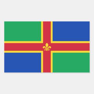 Sticker Rectangulaire Drapeau du Lincolnshire