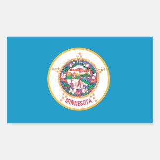 Sticker Rectangulaire Drapeau du MINNESOTA -