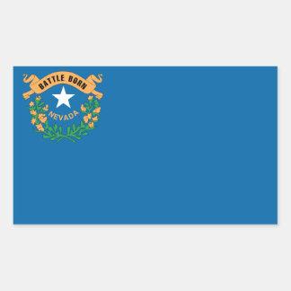 Sticker Rectangulaire Drapeau du NEVADA -