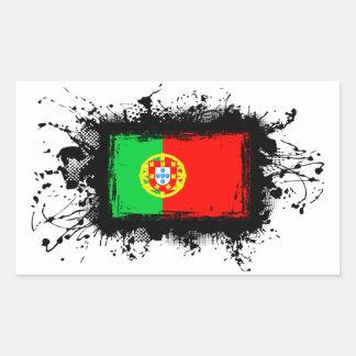 Sticker Rectangulaire Drapeau du Portugal