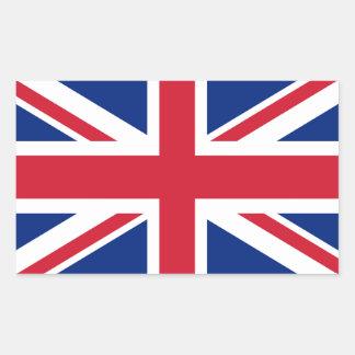 Sticker Rectangulaire Drapeau d'Union Jack du R-U - version authentique