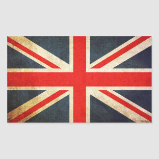 Sticker Rectangulaire Drapeau d'Union Jack les Anglais