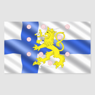 Sticker Rectangulaire Drapeau finlandais