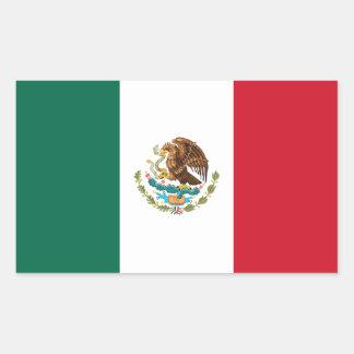 Sticker Rectangulaire Drapeau mexicain patriotique