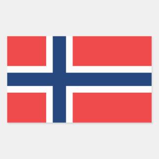 Sticker Rectangulaire Drapeau norvégien