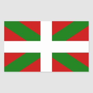 Sticker Rectangulaire Drapeau pays Basque euskadi